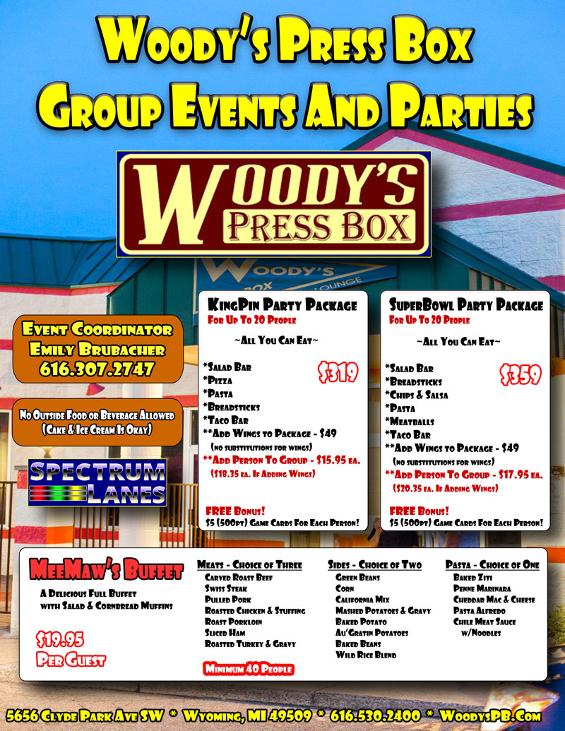 woodys group events