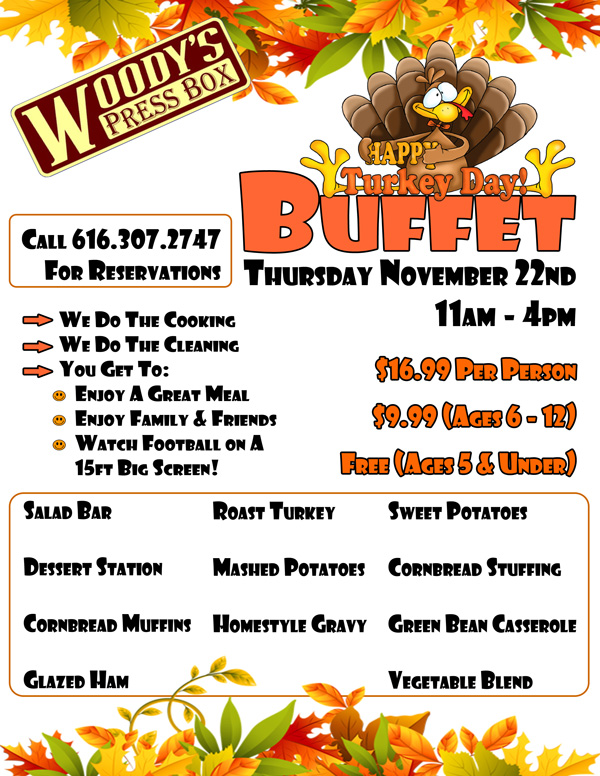 Woody's Thanksgiving Buffet
