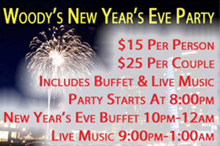 woody's new years eve party